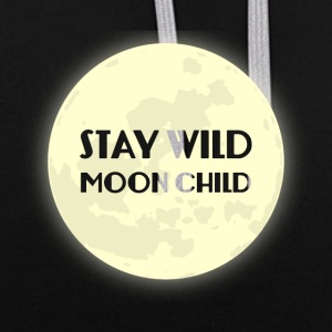 Hippie / Hippies: Stay Wild Moonchild - Contrast Colour Hoodie