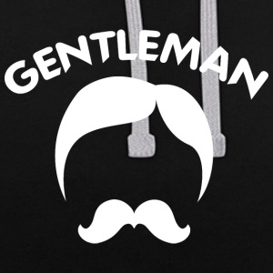 GENTLEMAN 3 white - Contrast Colour Hoodie