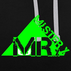 MR-X_PNG_verde - Contrast Colour Hoodie