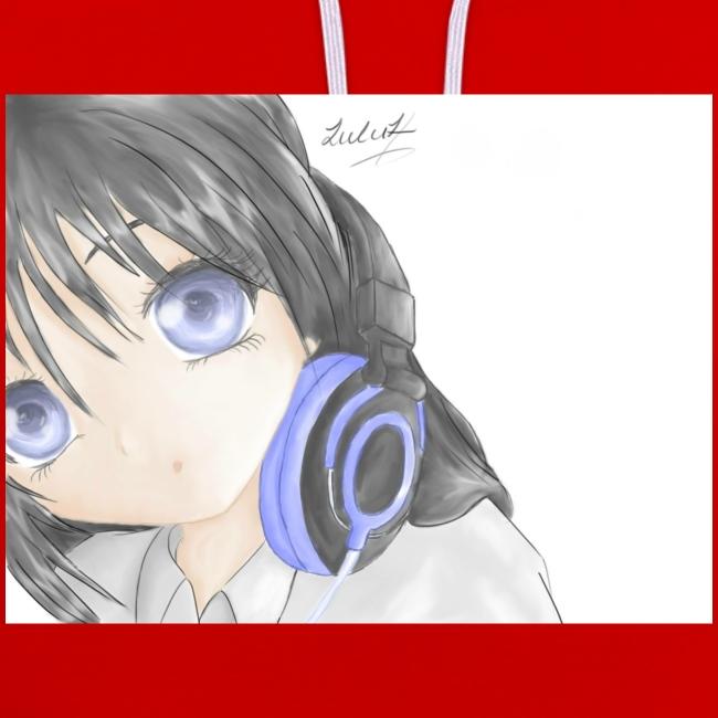 Anime Girl with Headphones