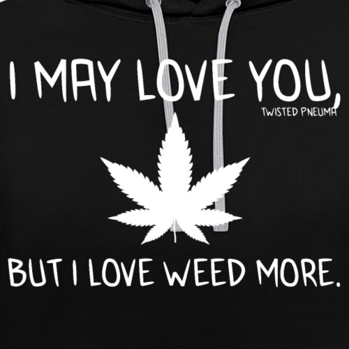 What I Love - Contrast Colour Hoodie
