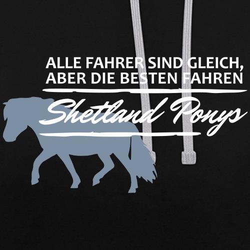 T-Shirt Spruch Fahrer She - Kontrast-Hoodie