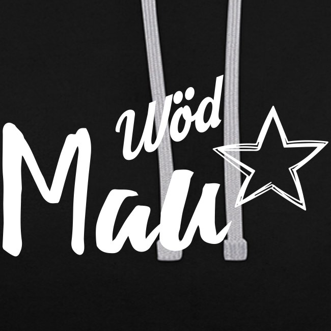 Vorschau: Wöd Mau - Kontrast-Hoodie