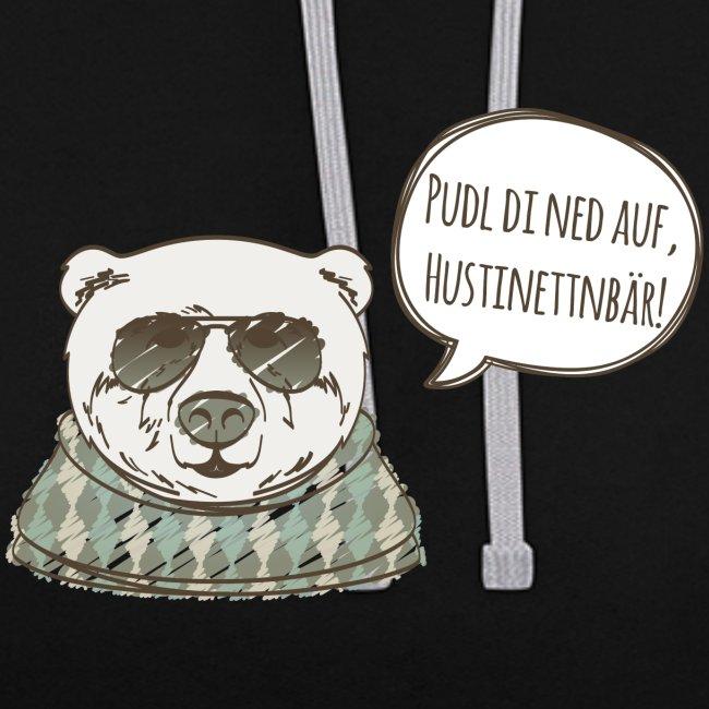Vorschau: Pudl di ned auf Hustinettnbär - Kontrast-Hoodie