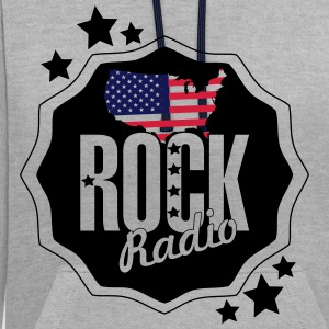 graphics rock states - Contrast Colour Hoodie