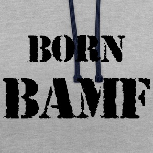 vecteur BAMF Né - Sweat-shirt contraste