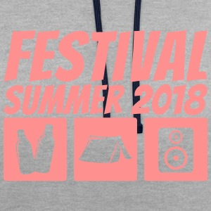 Festival Summer 2018 - Contrast Colour Hoodie