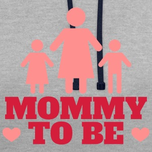 Mommy to be - Contrast Colour Hoodie
