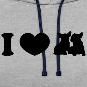 I ♥ frenchies - Sweat-shirt contraste