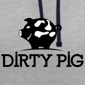 PIG DIRTY - Sweat-shirt contraste