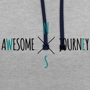 Grymt Journey - Travel (road trip) t-shirt - Kontrastluvtröja