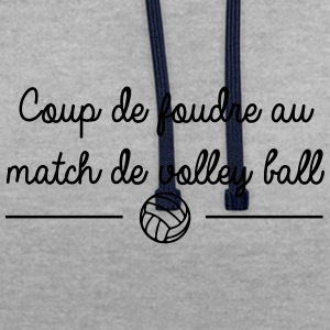 Coup de foudre au match de volley ball - Sweat-shirt contraste