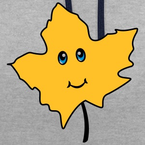 Autumn leaf Comic Cute - Kontrast-hettegenser