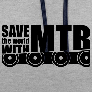 Save The World Met MTB Chain - Contrast hoodie