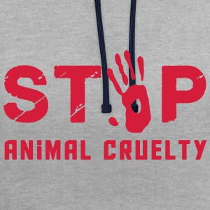 Stop for animal brutality - Contrast Colour Hoodie