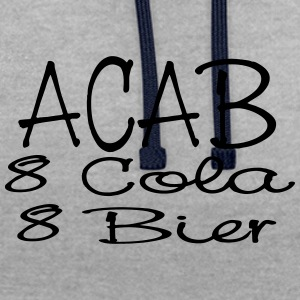 ACAB - eight Cola eight beer - Contrast Colour Hoodie