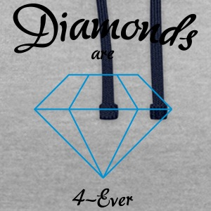 Les diamants sont 4-Ever - Sweat-shirt contraste