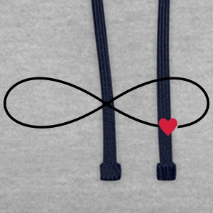 Coeur d'amour infini - Sweat-shirt contraste