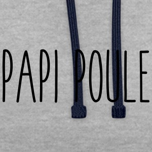 Papi poule - Sweat-shirt contraste