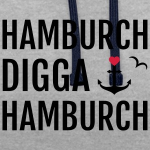 Hamburch DIGGA Hamburch - Kontrast-Hoodie