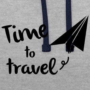 Time to travel - Contrast Colour Hoodie