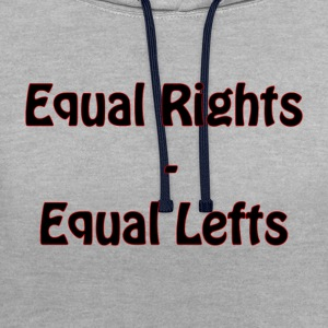 Equal Lefts - Contrast Colour Hoodie