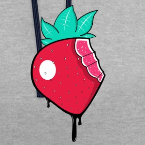 Strawberry - Contrast Colour Hoodie