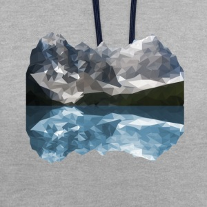Mountains Low Poly - Contrast Colour Hoodie