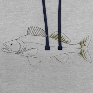 Cible poissons Zander - Sweat-shirt contraste