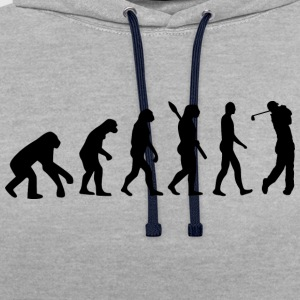 Golf Golfing Golfing b - Contrast Colour Hoodie