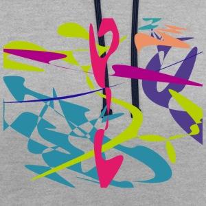 tangram Curved - Sweat-shirt contraste