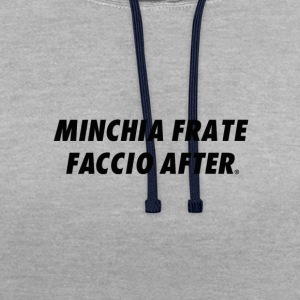 MINCHIA FRATE FACCIO AFTER ORIGINALS BRAND - Felpa con cappuccio bicromatica