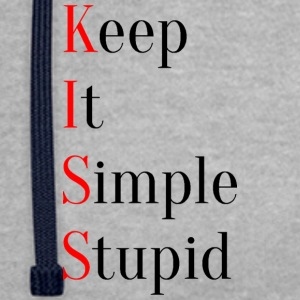 KISS - Keep It Simple Stupid - Contrast hoodie