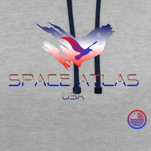 Space Atlas Tee USA - Contrast Colour Hoodie