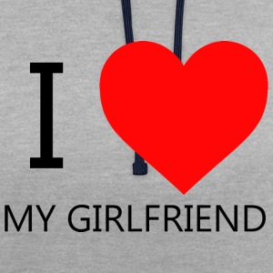 I LOVE MY GIRLFRIEND T-SHIRT - Contrast hoodie