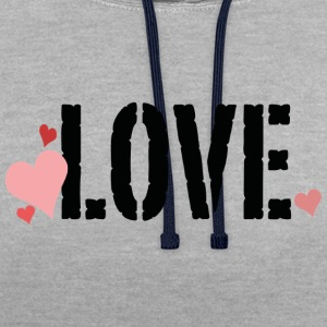 Love - Contrast Colour Hoodie