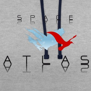 Space Atlas Baseball Tee Red - Kontrast-hættetrøje