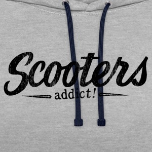 Scooters addict ! - Sweat-shirt contraste