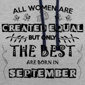 Woman Birthday September - Contrast Colour Hoodie