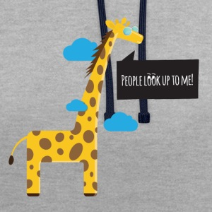 Cool Giraffe - Contrast Colour Hoodie