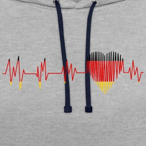 GERMANY GERMANY PULS HEART - Contrast Colour Hoodie