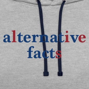 alternative facts - Kontrast-Hoodie