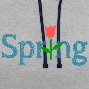 Spring - Contrast Colour Hoodie