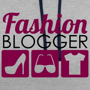 Fashion Blogger - Contrast Colour Hoodie