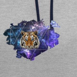 Galaxy Tiger - Sweat-shirt contraste