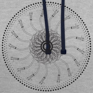 turntable mandala 1200 - Contrast Colour Hoodie