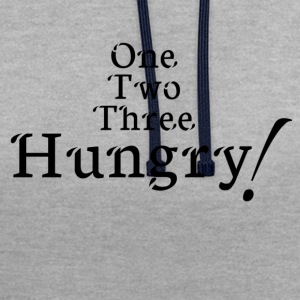 hungry! - Contrast Colour Hoodie