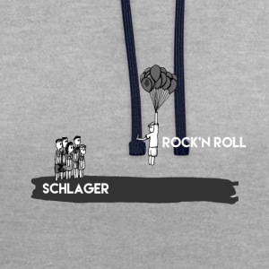 rock and roll - Sudadera con capucha en contraste