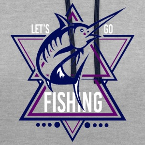 Lets go Fishing - We love Fishing!! - Kontrast-Hoodie