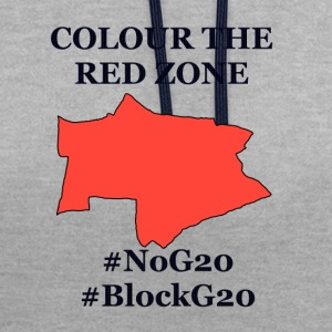 Colour the red Zone - Kontrast-Hoodie